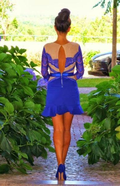 Luxurious Splice Lace Pattern Dress
