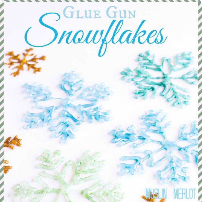 Glue Gun Snowflake Craft