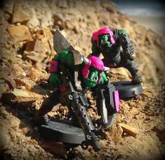 Battle Gaming One, Pink Orks, Warhammer 40K, Bright Pink, Vallejo Paints