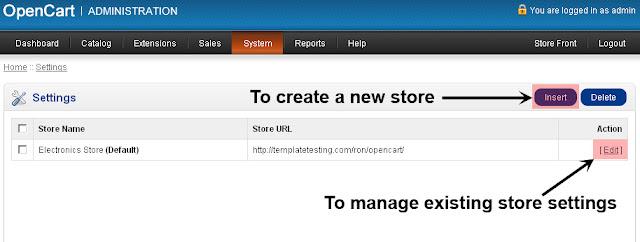 Panduan Mengelola Setting Store Opencart di Admin Panel