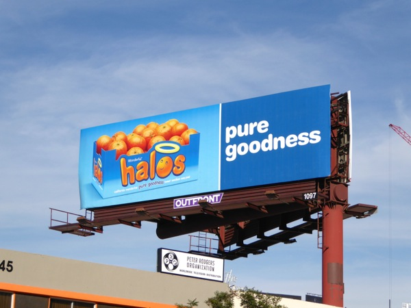 Halos mandarins Pure goodness billboard