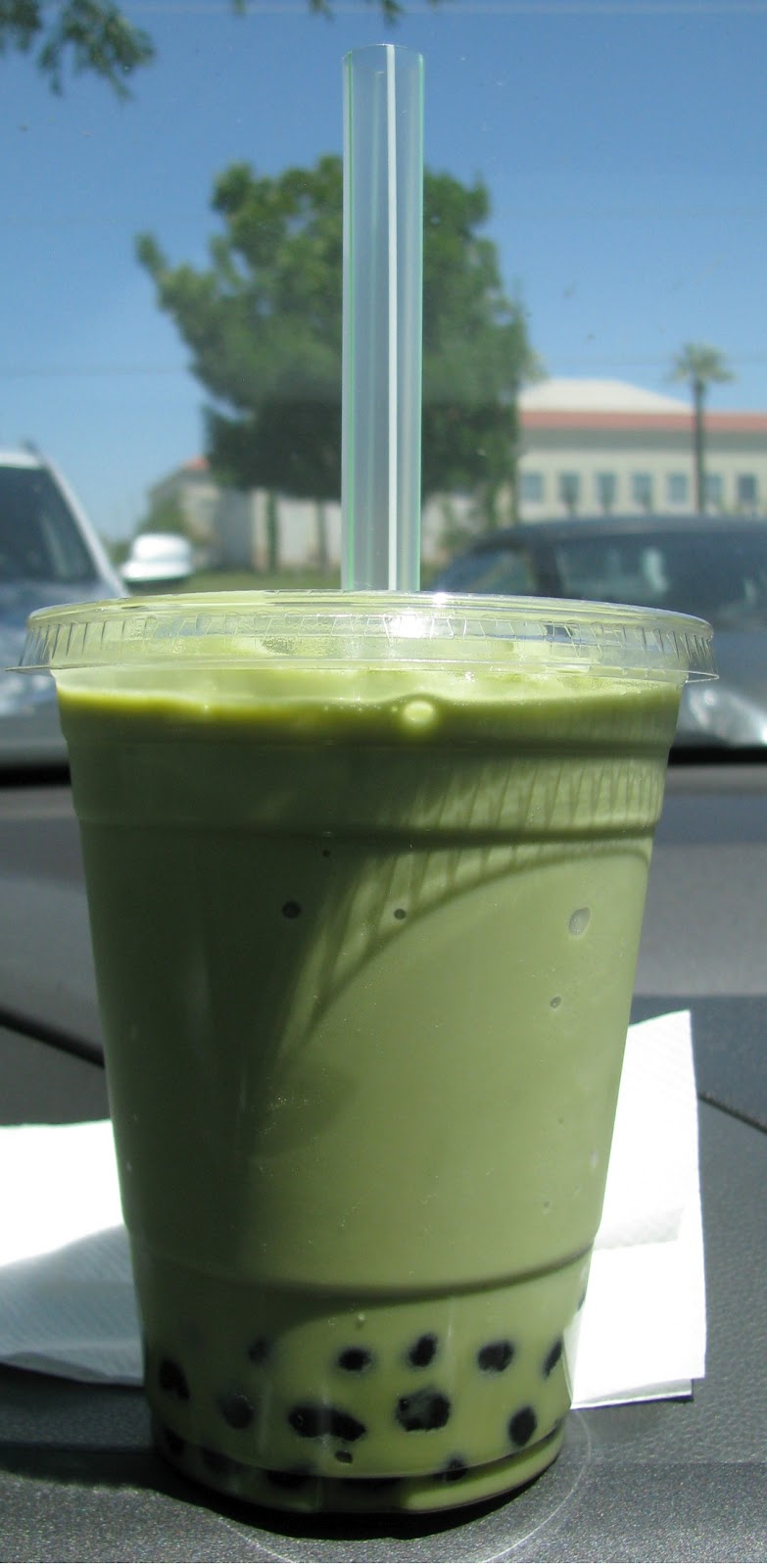 Corrie Food: Green Tea Latte Slush w/ Boba @ Pearl Tea House - Fresno ...