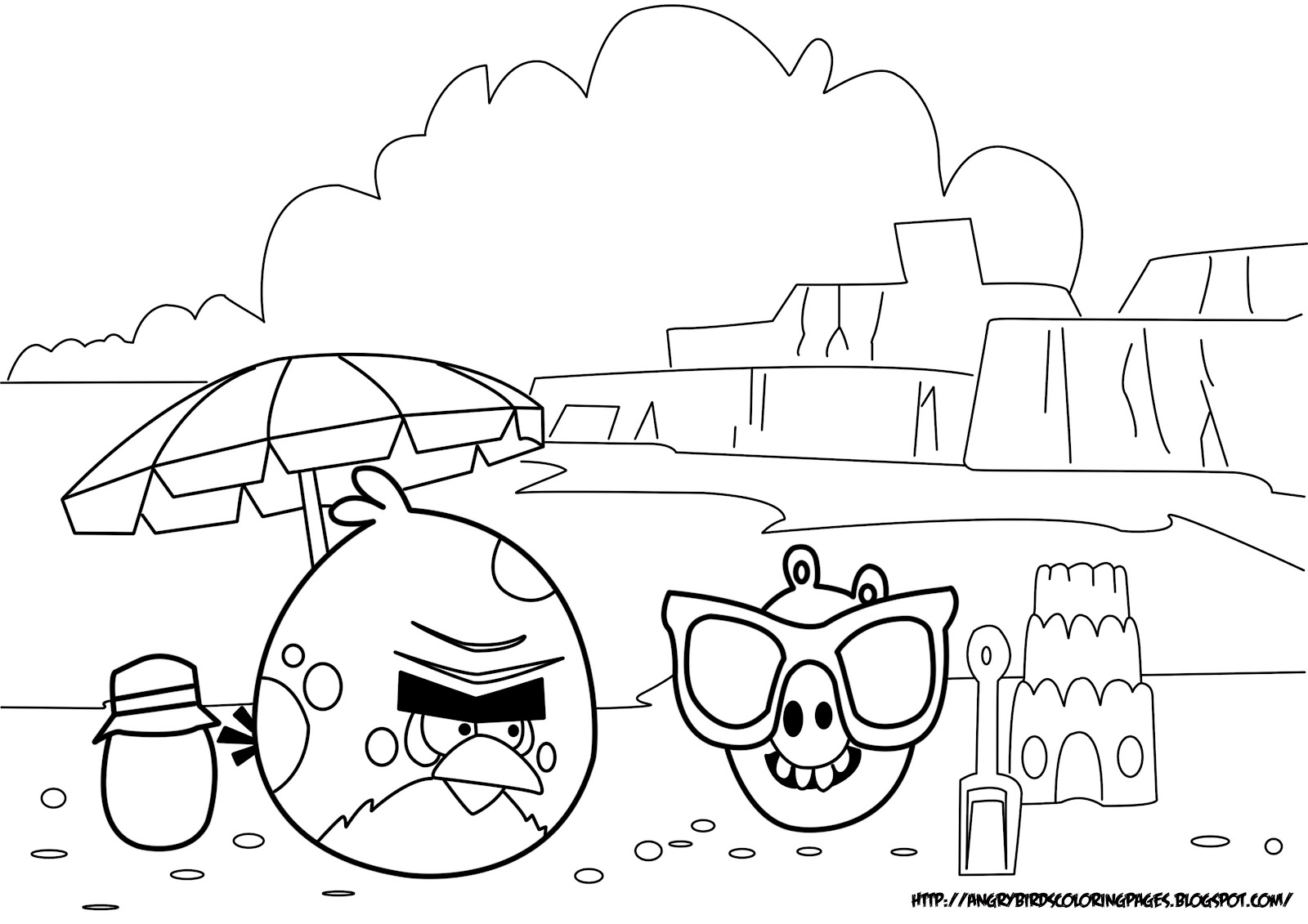 Coloring pages angry birds