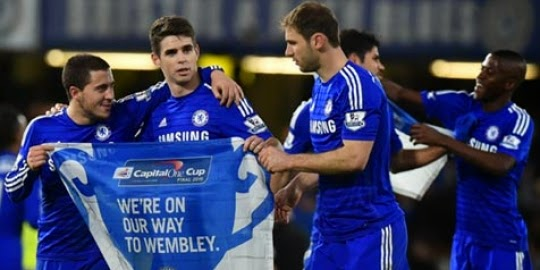 Chelsea Berhak Maju Ke Babak Semi Final Capital One Cup 2015