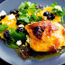 Roast marmalade chicken with winter salad