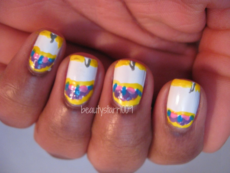 Im Just Meichi Disney Nail Art Challenge Beauty And The Beast