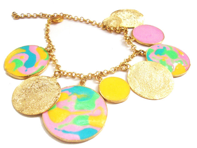 Aditi bhatt accessories, colorful necklace, multi-color necklace, enamel jewelry