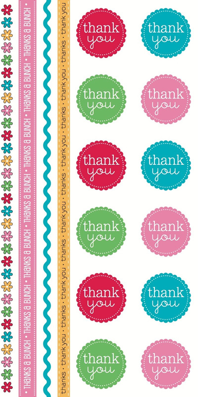 SRM Stickers Blog - Thank You Card Sets by Michelle  - #thankyou #stickers