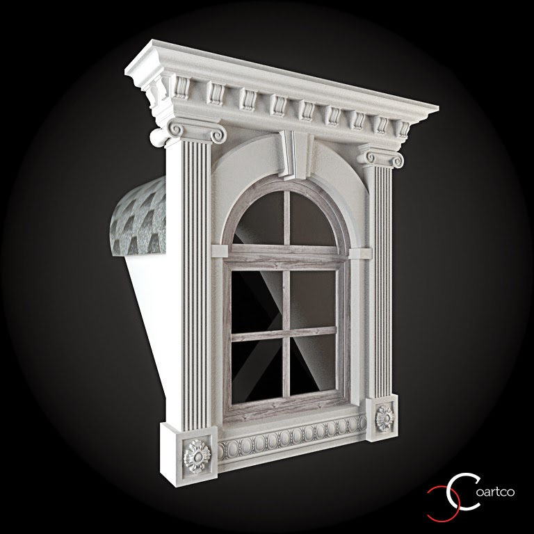 Ornamente Geamuri Exterior, Arcada fatade case cu profile decorative polistiren, profile fatada,  Model Cod: WIN-097