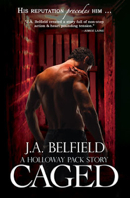 Cover Reveal: Caged (a Hollowaypack story# 3) by JA Belfield