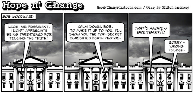 breitbart, obama, obama jokes, woodward, sequester, stilton jarlsberg, hope n' change, hope and change, conservative, tea party