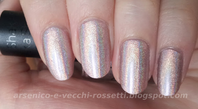 Shaka smalto Hologram Nude Aqua Base swatch