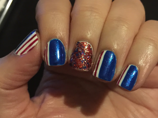 labor day nail art, patriotic nail art, july 4th nail art, 4th of july nail art