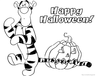 Tigro Halloween coloring