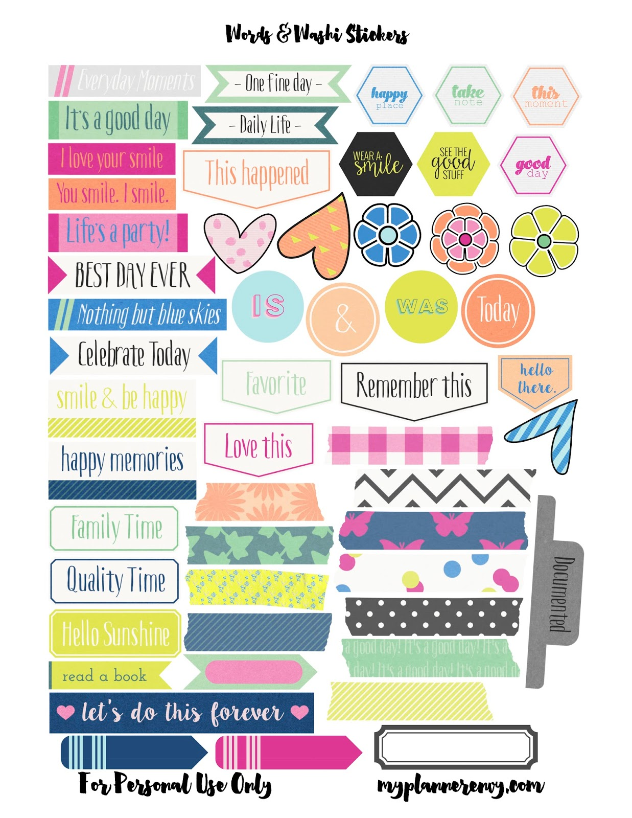 Best Sticker Printables For FREE! | Plan To Love This Life for Planner Stickers Template  110zmd