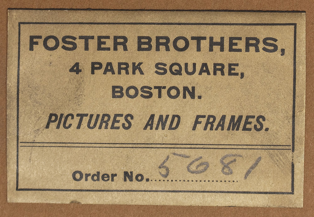 Picture Frame Labels: Foster Brothers