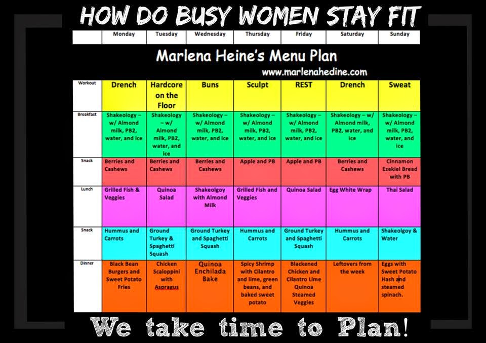 How busy women stay fit, meal plan, recipes
