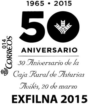 Matasellos aniversario Caja Rural de Asturias