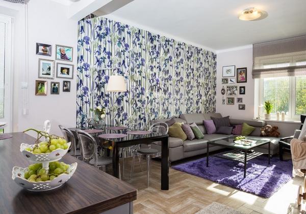 contoh wallpaper alam indah untuk ruang tamu yang indah