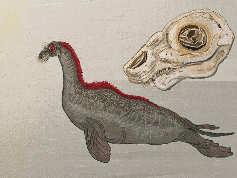 "Long-Necked ""Sea Serpent"", Illustrated by Thomas Finley"