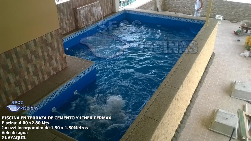 Secc piscinas piscinas en terraza for Piscinas con jacuzzi incorporado