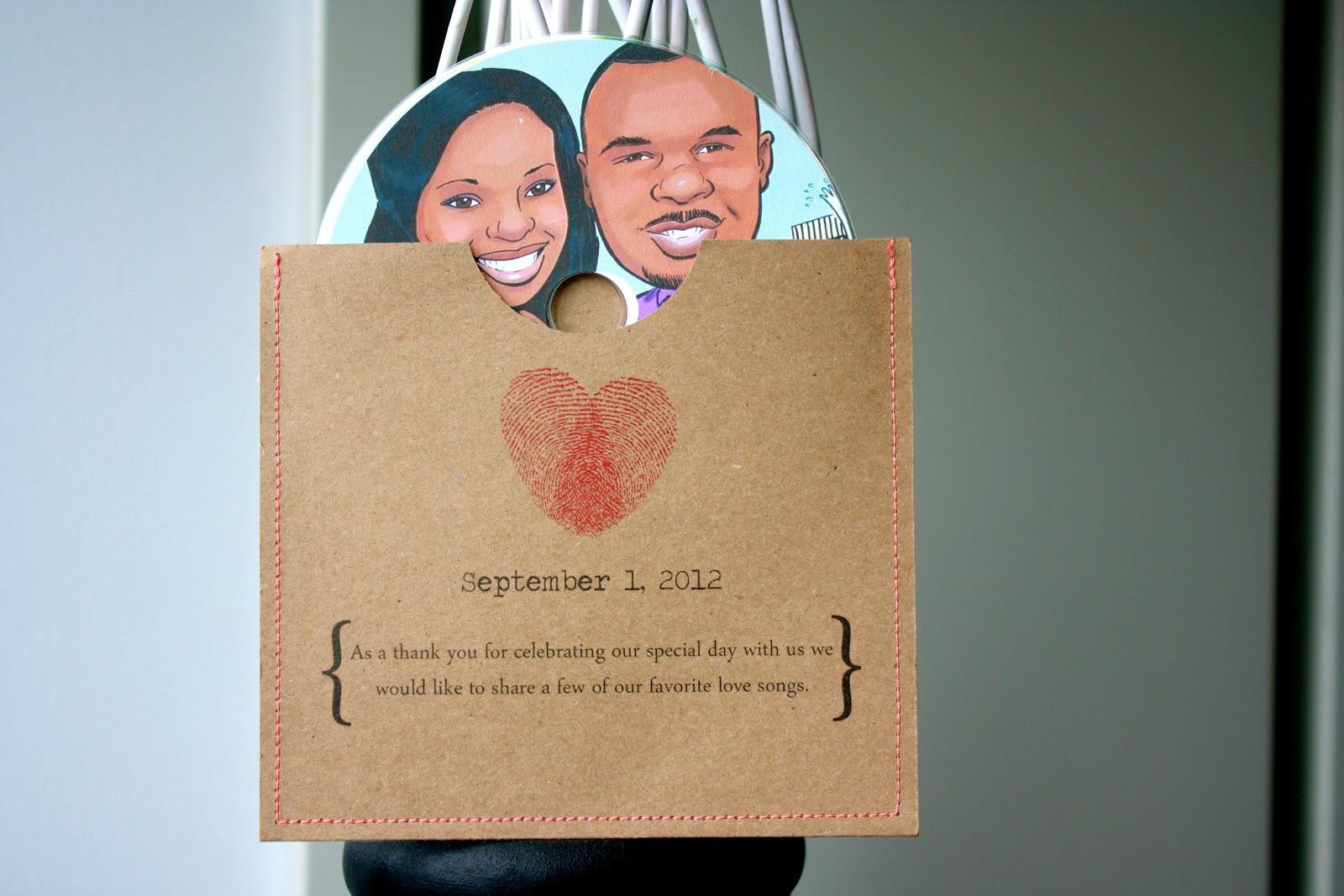 KO2012 DIY Wedding Favor CD