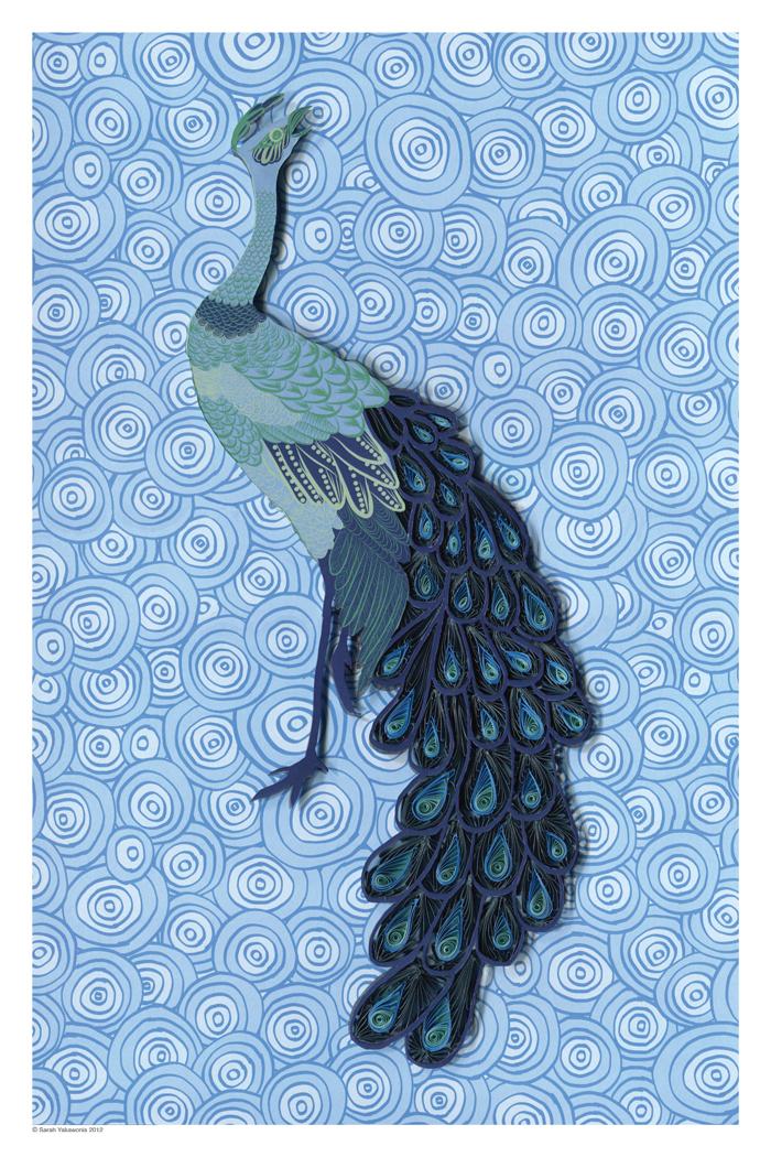 Peacock paper art - photo#1