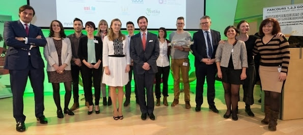 "HRH Hereditary Grand Duke Guillaume and HRH Hereditary Grand Duchess Stéphanie attended the 1,2,3 GO Social event ""Investing in social impact - Social entrepreneurs"