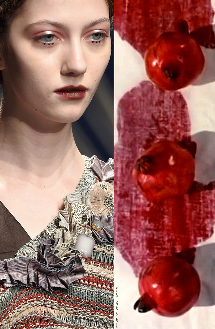 Visual poetry at Milan fashion week. Antonio Marras Spring 2016, Colour of Pomegranates & collages by Sergej Paradjanov / via www.fashionedbylove.co.uk british fashion blog