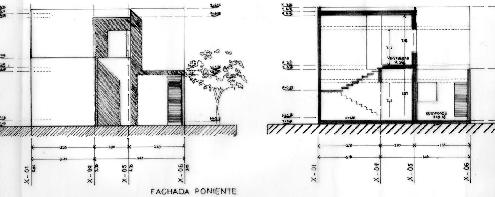 La arquitectura y yo t cnicas de estilogr fo for Planos tecnicos arquitectonicos