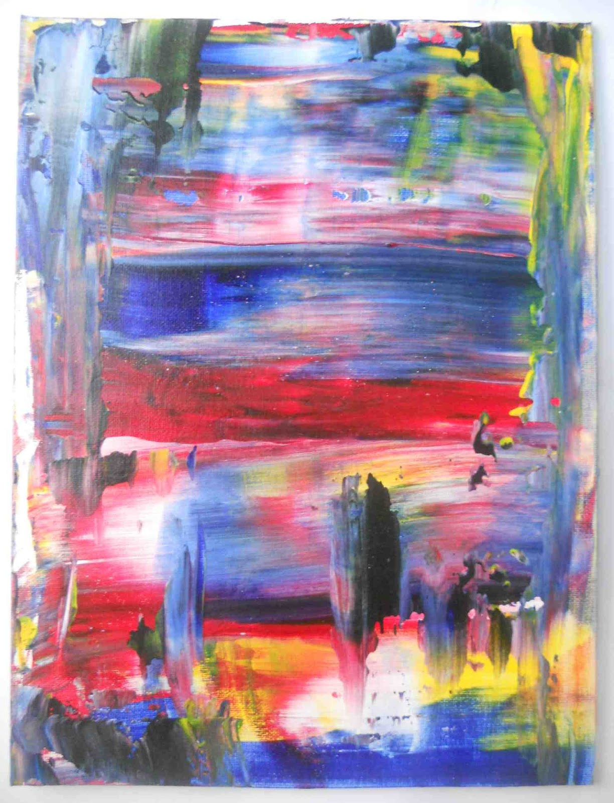 Create art with mrs p it 39 s a drag abstract painting for Creating a mural