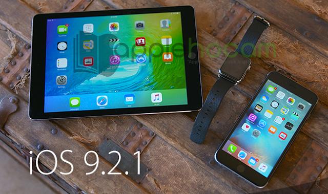 iOS 9.2.1 Güncellemesi Yayınlandı