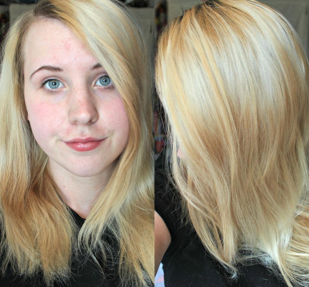 Kira Bassett Toning Blonde Hair La Riche Directions