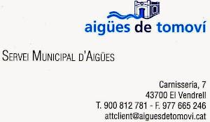 AIGÜES DE TOMOVI - EL VENDRELL