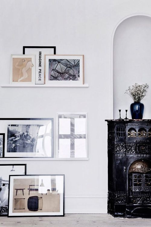 lovely and easy art wall arrangement idea