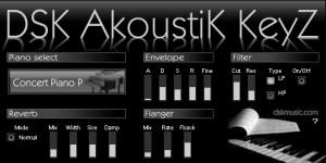 DSK AkoustiK KeyZ - Teclado Acústico VST