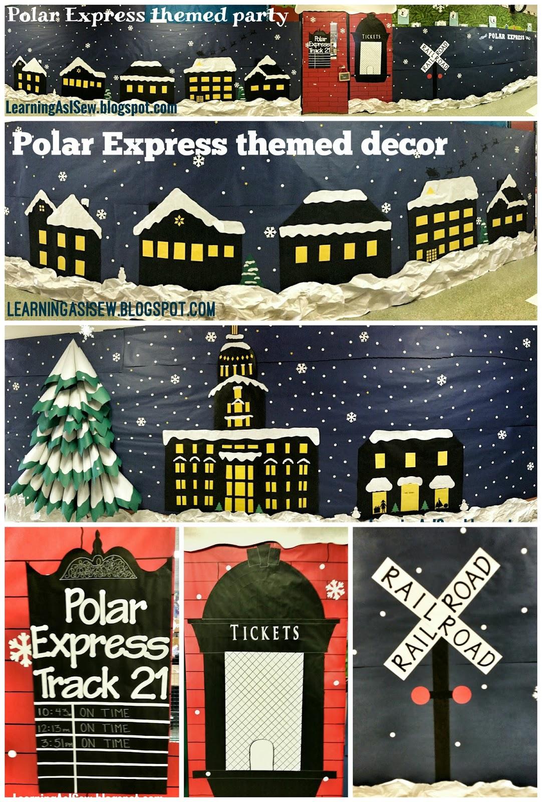 Classroom Train Decor ~ Learning as i sew bake cut and create polar express