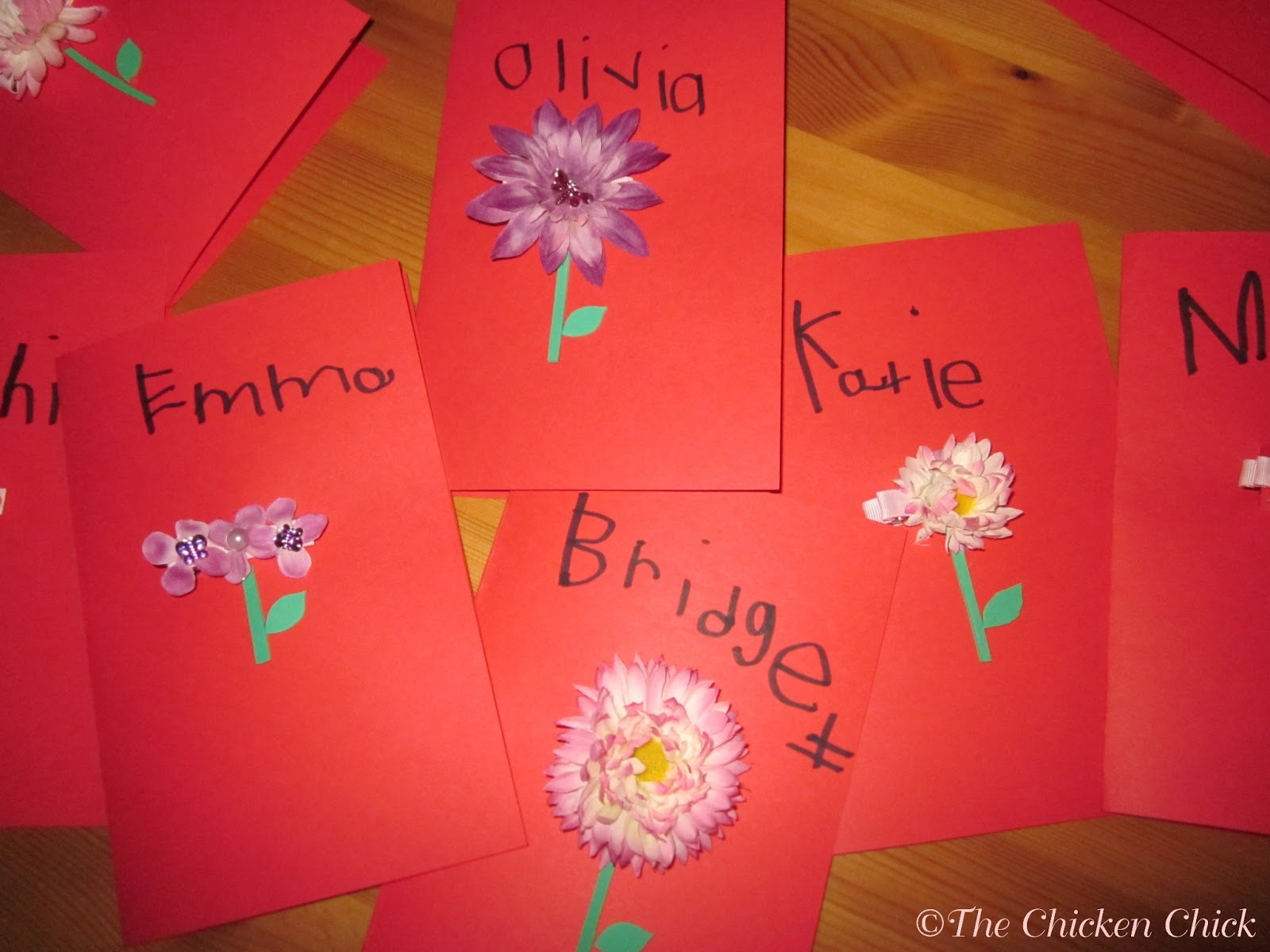 The Chicken Chick Flower Hair Clip Cards