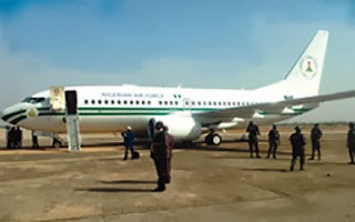 The presidential aircraft at Minna Airport