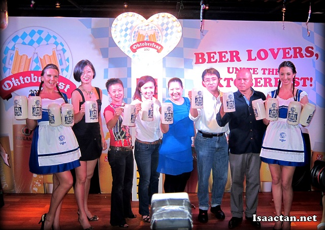 The launch of Oktoberfest 2012 by the VIPs and GAB's top folks