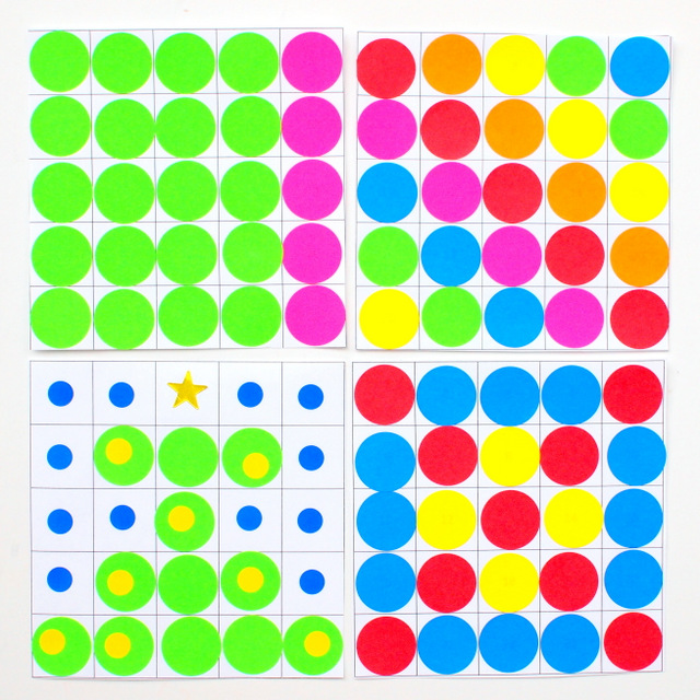 Easy Number Chart Art- A colorful and fun way to combine math and art