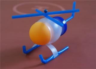 cara membuat kerajinan tangan dari sedotan : Miniatur heli