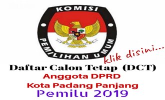 DCT DPRD PADANG PANJANG UNTUK PILEG 2019