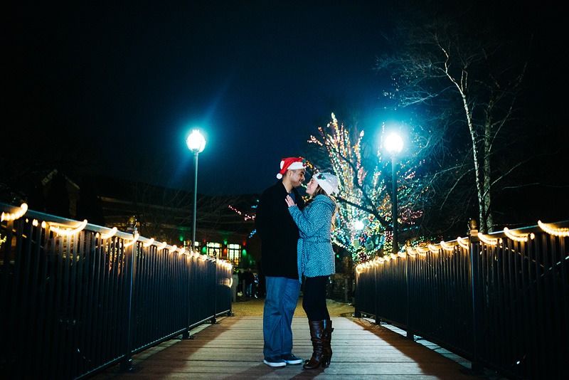 Lincoln Park Chicago Zoo Lights Engagement Photo