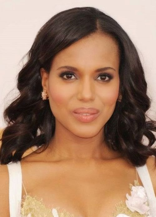 Kerry Washington Shoulder length Curls African American Hairstyle Images