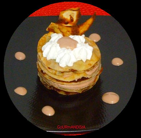 image-Gâteau de crêpes crème montée au Nutella et chantilly