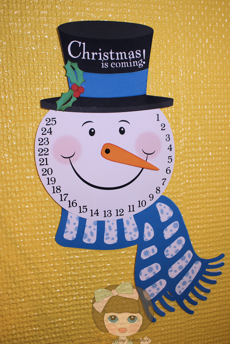 My Crafting Channel: Snowman Advent Calendar- Silhouette Challenges #8 ...