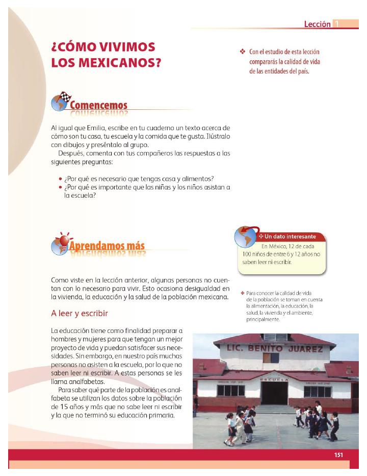 ¿Cómo vivimos los mexicanos? - Geografía 4to Bloque 5 2014-2015