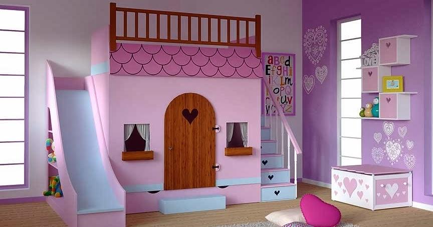 Cama casa en dormitorios infantiles dormitorio casita de for Cuartos de ninas fucsia