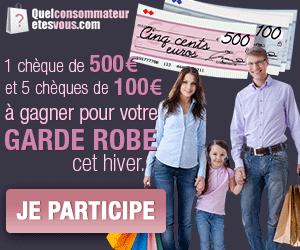Jeu concours Gagnez des chèques bancaires de 100 et 500 euros